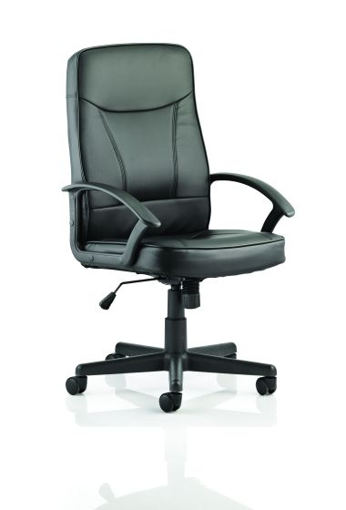 Blitz Executive Black Chair Black Soft Bonded Leather With Arms