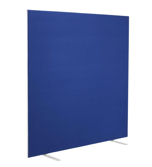 1600W X 1600H Upholstered Floor Standing Screen Straight Royal Blue