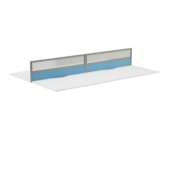 Toolrail Type 3 Half Glazed Screen Silver Frame - 1400W X 380H Band 3