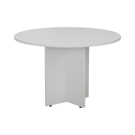1100mm Round Meeting Table - White