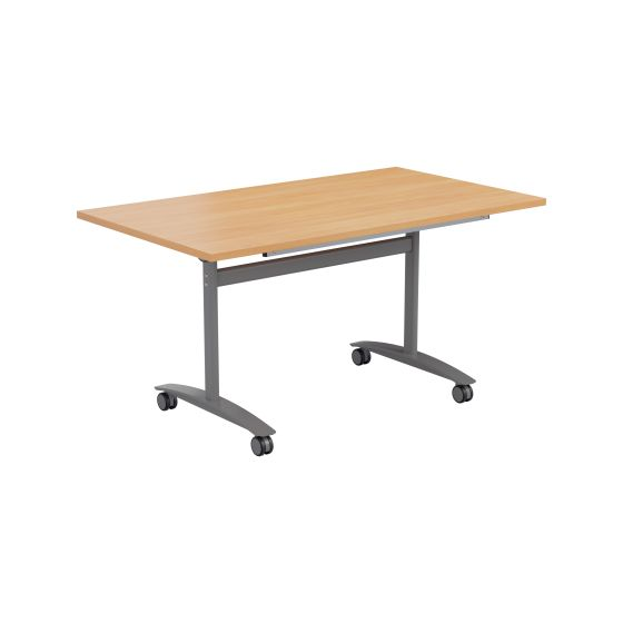 One Tilting Table 1600 X 700 Silver Legs Top