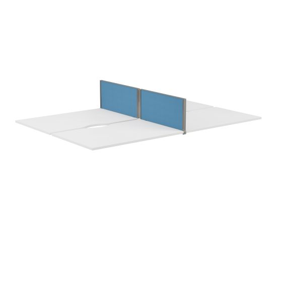 Panel Type 7 Straight Return Screen Silver Frame - 785W X 350H Band 1