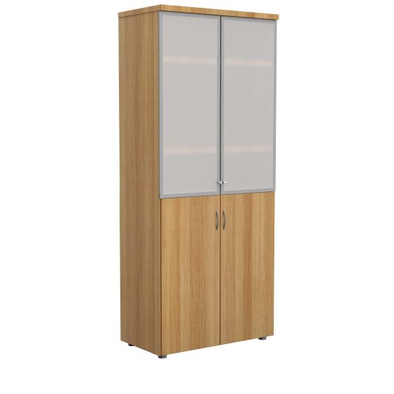 E Space High Cabinet Wood Cappuccino