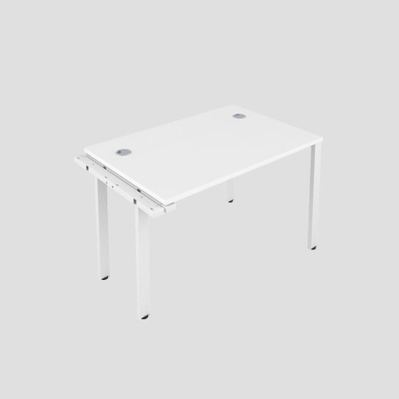 CB 1 Person Extension Bench 1200 X 800 Cable Port White-White