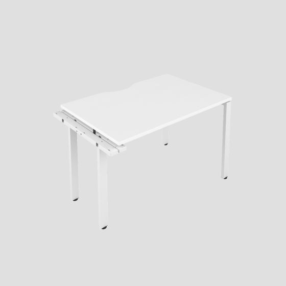 CB 1 Person Extension Bench 1400 X 800 Cut Out White-White