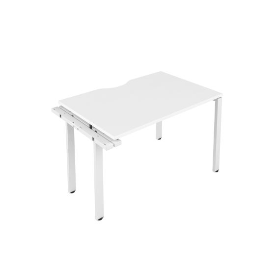 CB 1 Person Extension Bench 1600 X 800 Cut Out White-White