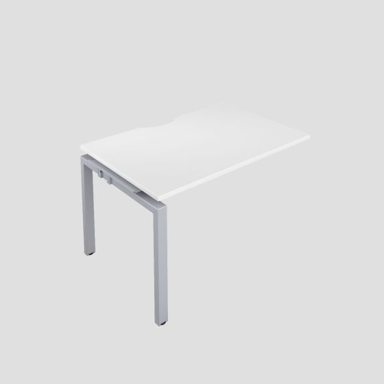 Premium 1 Person Bench Extension 1600 X 800 Cut Out White-Silver