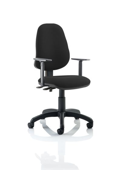 Eclipse Plus II Lever Task Operator Chair Colour With Height Adjustable Arms