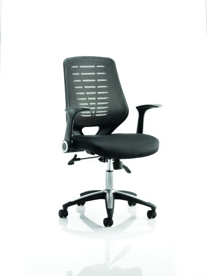 Relay Task Operator Chair Airmesh Seat Colour Back With Arms