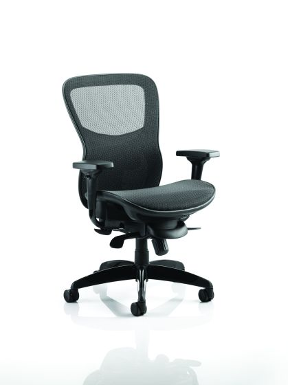 Stealth Shadow Ergo Posture Black Mesh Seat And Back Chair With Arms