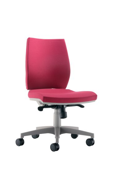 Rome Mid Back Chair - Grey Frame Red Fabric