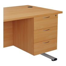 Fixed Pedestal 3 Drawers