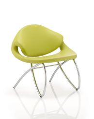 Beau Visitor Chair Green With Arms