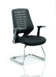 Relay Cantilever Airmesh Seat Colour Back With Arms