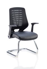 Relay Cantilever Leather Seat Back With Arms