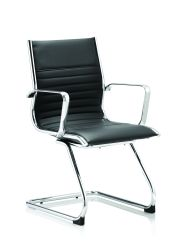 Ritz Cantilever Chair Colour Soft Bonded Leather With Arms