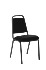 Banqueting Stacking Visitor Chair Black Frame Colour Fabric