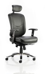 Mirage II Executive Chair Black Leather With Arms With Headrest