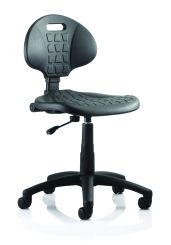 Malaga Task Wipe Clean Operator Chair Black Polyurethane Seat And Back Without Arms