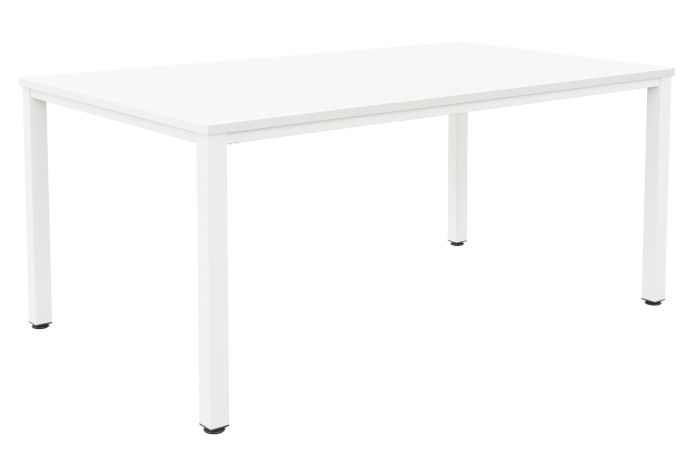 Fraction Infinity 200 X 100 Meeting Table - White With White Legs