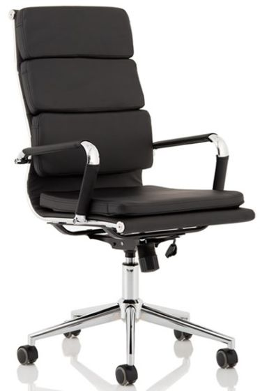 Hawkes Black PU Chrome Frame Executive Chair