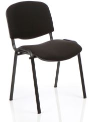 ISO Stacking Chair Color Fabric Black Frame Without Arms