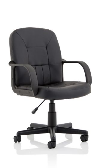 Hove Soft Bonded Leather Executive Chair with Fixed Arms