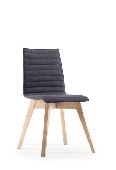 Björn 4 Leg Wooden Upholstered Chair - Unlimited
