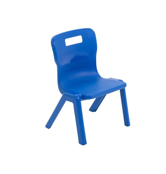 Titan Antibacterial One Piece Chair Size 1 - Blue