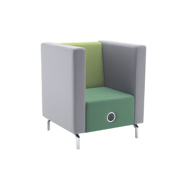 Phonic Low Armchair Bands Fabric