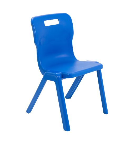 Titan Antibacterial One Piece Chair Size 5 - Blue