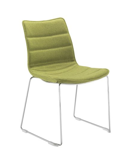 Milan Visitor With Chrome Skid Frame Unlimited Fabric