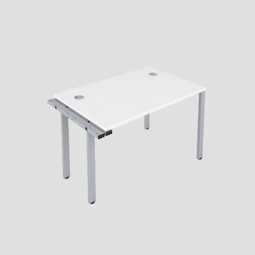 CB 1 Person Extension Bench 1600 X 800 Cable Port White-Silver