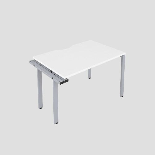 CB 1 Person Extension Bench 1600 X 800 Cut Out White-Silver