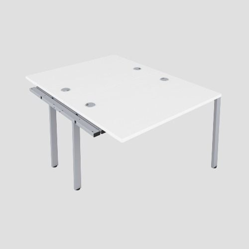 CB 2 Person Extension Bench 1400 X 800 Cable Port White-Silver