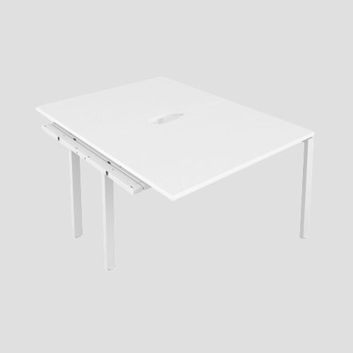 CB 2 Person Extension Bench 1400 X 800 Cut Out White-White