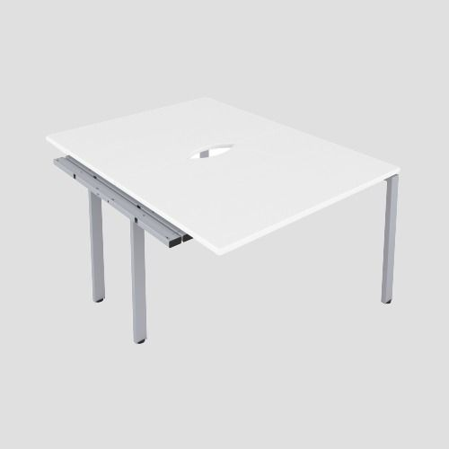 CB 2 Person Extension Bench 1600 X 800 Cut Out White-Silver