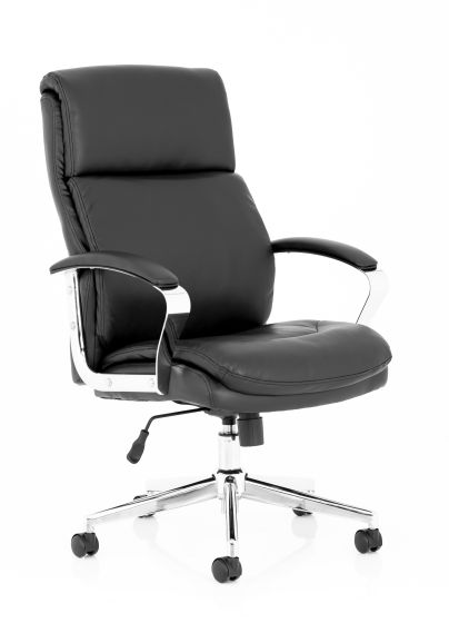 Tunis Black Soft Bonded Leather Executive Chair