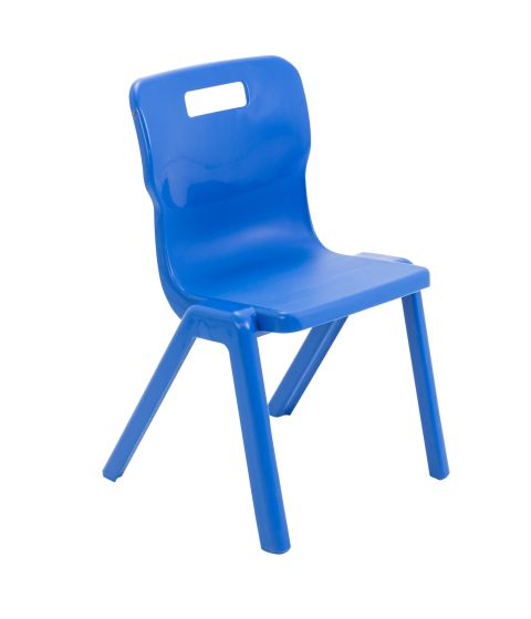 Titan Antibacterial One Piece Chair Size 4 - Blue